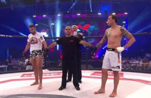 Absolute Championship Berkut, Ben Alloway, Sharaf Davlatmurodov, Screencap