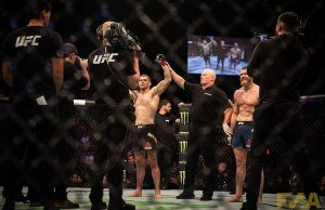 Jake Matthews defeats Emil Meek at UFC Auckland (Photo: Chad Wood)
