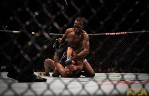 Jalin Turner stops Joshua Culibao at UFC Auckland (Image: Chad Wood)